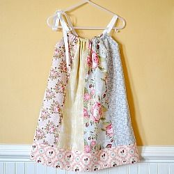 Five fat quarters equal one cute dress - tutorial for sizes 2t-5t