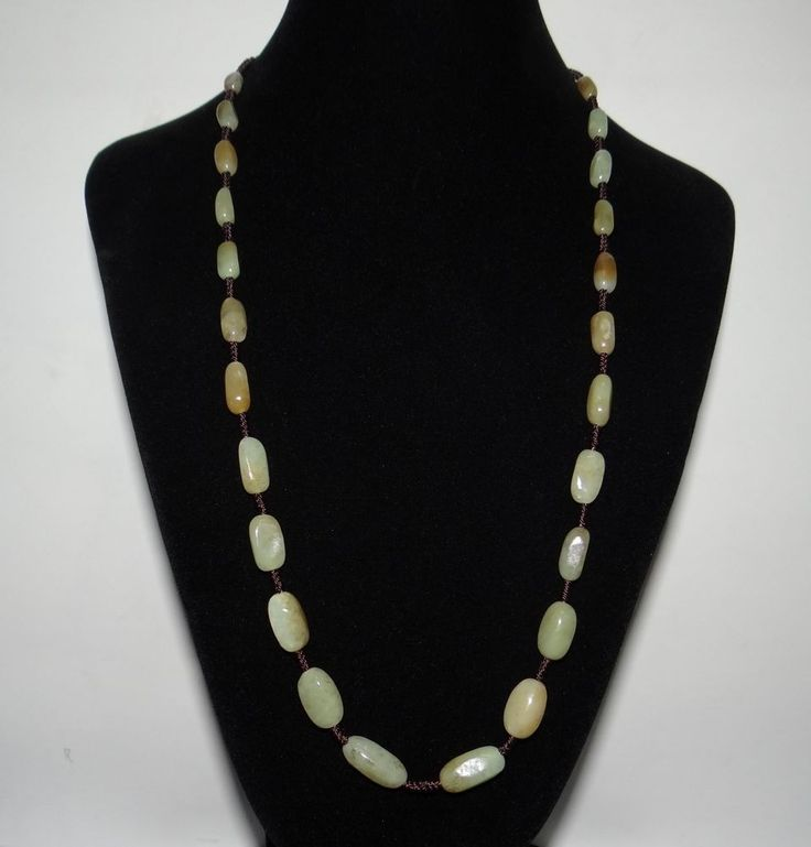 "0.7"" China Nature Nephrtie Hetian Jade White With Brown Skin Pearls Necklace"
