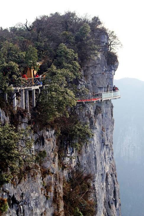 glass walkway in china | Glasgolv 1,5 upp i luften – ny turistattraktion! | Bagage och ...
