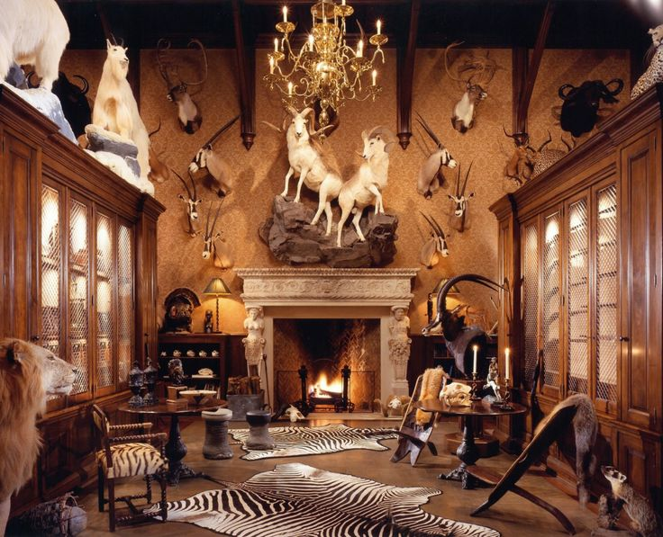 The trophy room. A parlor/smoking room idea.