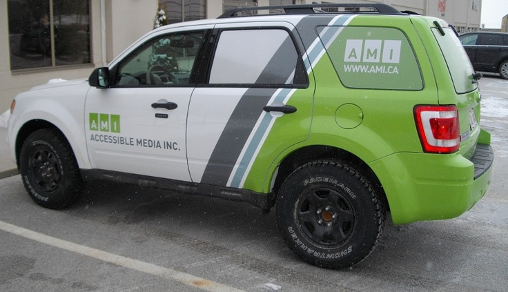 Here's a truck we wrapped - vehicle wraps are a great way to advertise because of the high exposure and low cost.