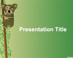 73 best animal powerpoint templates images on pinterest ppt koala powerpoint background template free animal ppt template with green background and koala image toneelgroepblik