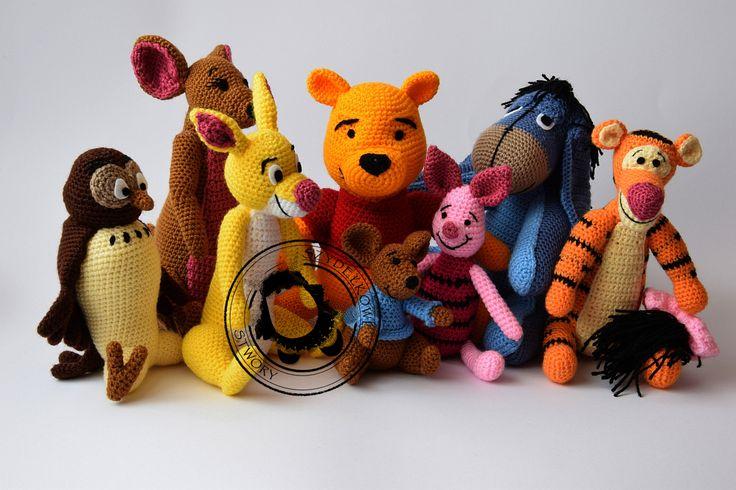 Agnieszka Mężyk, Szydełkowe Stwory, Kubuś i przyjaciele www.polandhandmade.pl #polandhandmade #crochet #amigurumi