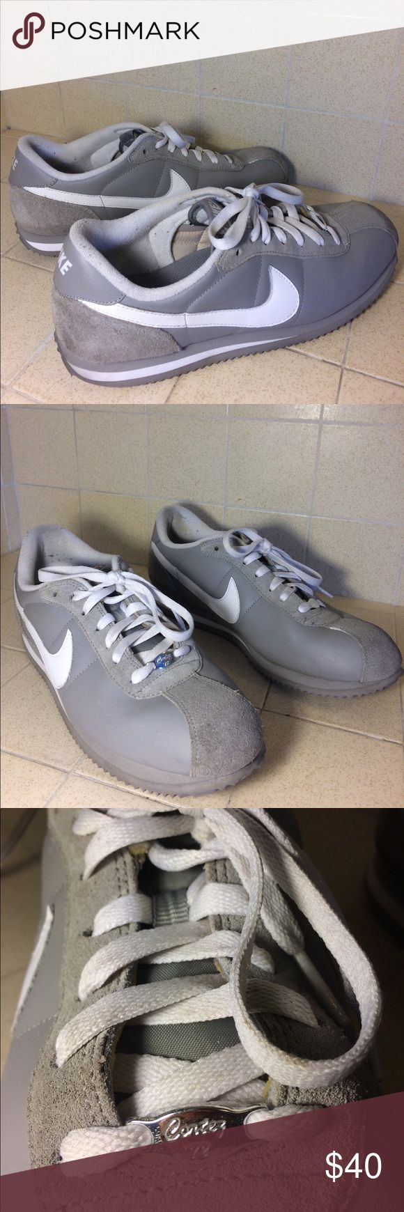 Nike cortez 72 shoes In great condition look new no flaws in rare grey leather Nike Shoes