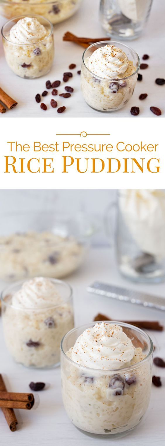 Make the best creamy, old fashioned rice pudding quicker and easier using a pressure cooker.