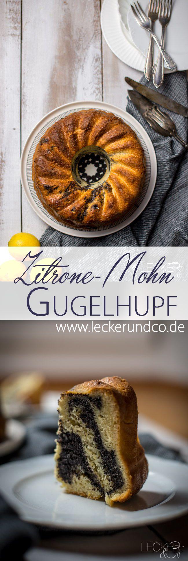 Zitronen-Quark Gugelhupf mit Mohn-Füllung