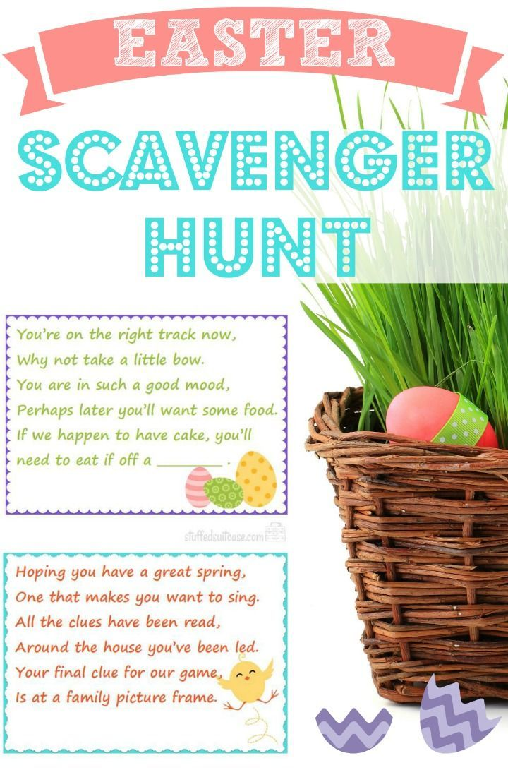 73 best easter images on pinterest activities children and easter scavenger hunt clues family fun for your kids to find their easter basket gifts negle Gallery