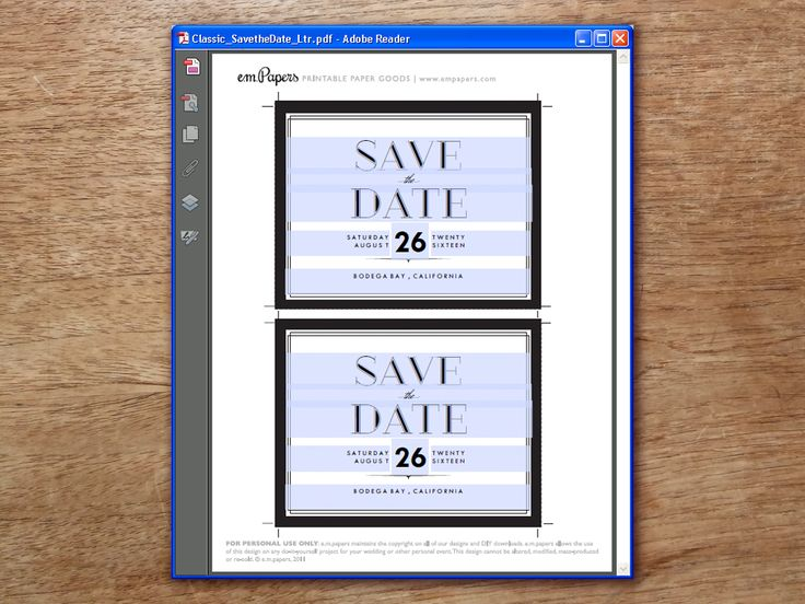 print save the date cards