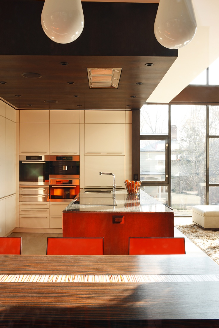 Kitchen In Modern House In Ansley Neighborhood Atlanta Ga Interior Design By Michael Habachy