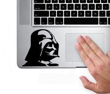 MacBook 対応 アートステッカー ダースベイダー キーボード用 黒