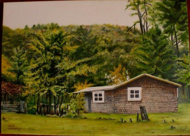Autor: Ingrid Valeria López Urrutia Descripción: casa de los abuelitos en lago colico , actualmente deshabitada ... mis hijas disfrutaron en ese hermoso cerro.