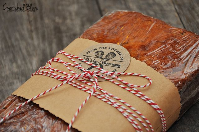 Banana bread packaging and delicious recipe!