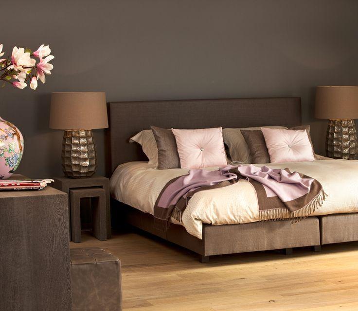 ... Slaapkamer kleuren, Gezellige slaapkamer decor en Bruine slaapkamer
