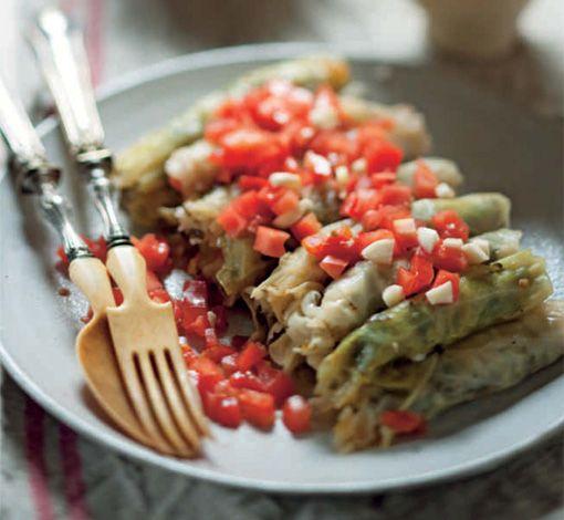 Lebanese cabbage rolls.