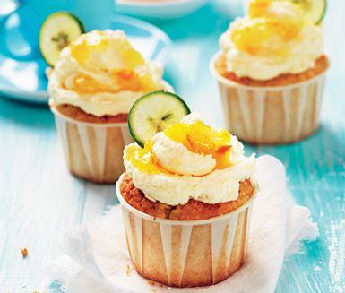 Coconut cupcake med apelsinfrosting