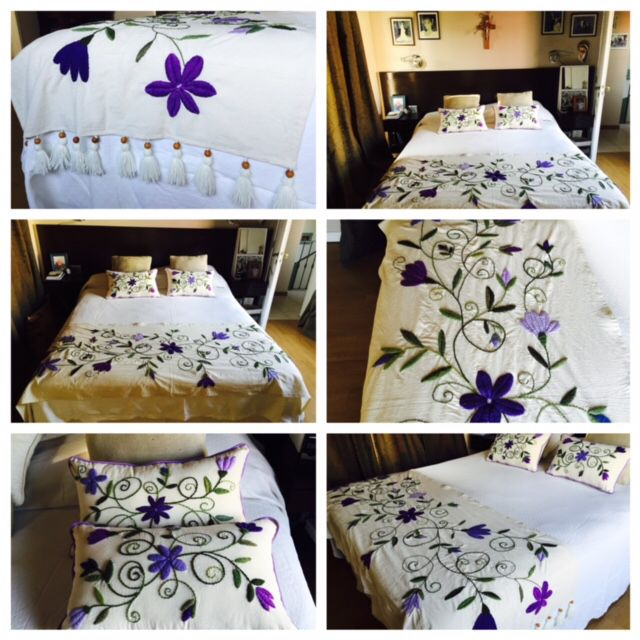 648 best images about bordado mexicano on pinterest folk Mexican embroidered bedding