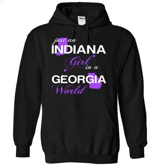 (INJustTim002) Just An Indiana Girl In A Georgia World - #funny tees #cotton…