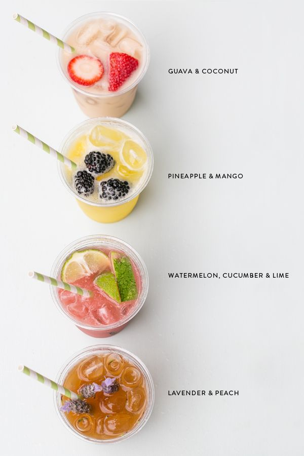 Cool + refreshing! Four Auga Fresca Recipes via Sugar and Charm