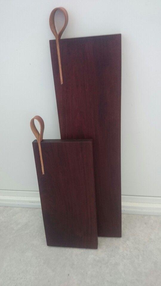 Cutting board leather ipe wood