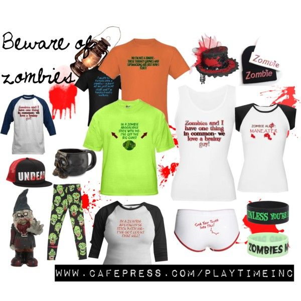 Hunger no more, zombie-lovers! Fun zombie items!! www.cafepress.com/playtimeinc