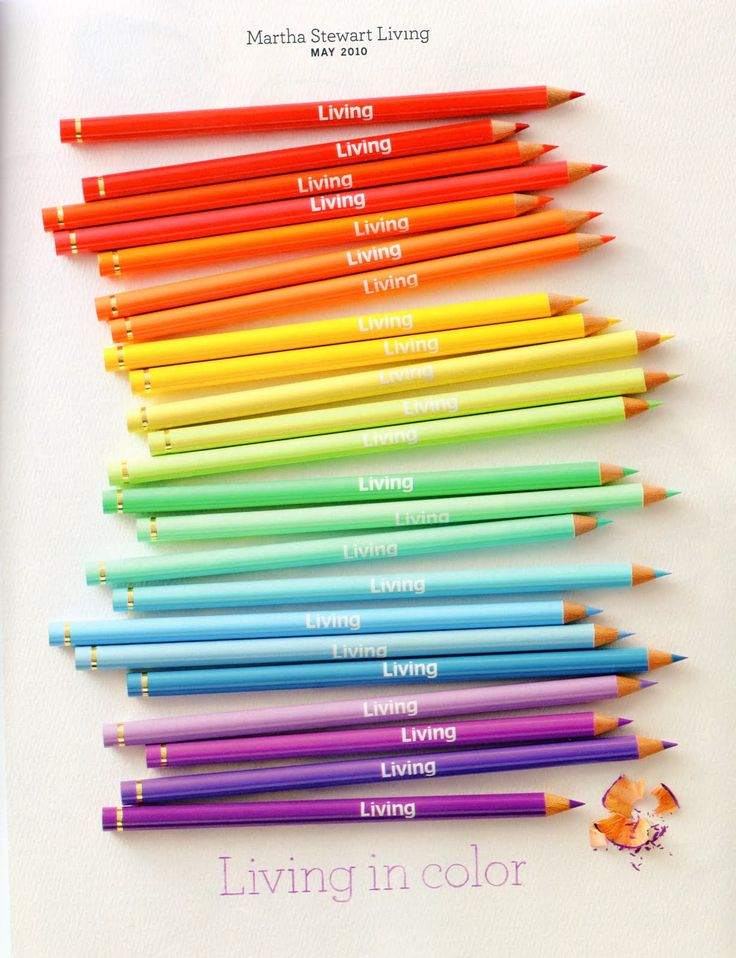 I put all my colored pencils or markers in rainbow order before I use them...my daughters do too!!