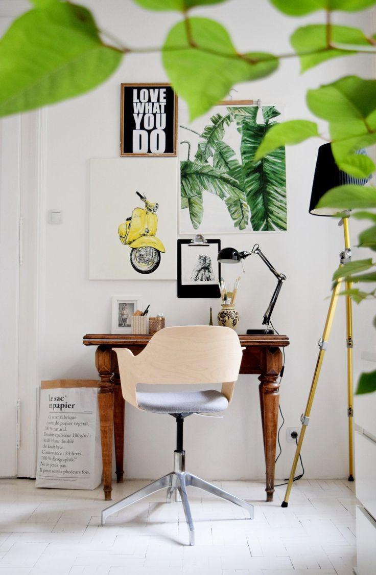 Dolgozószoba sztori: bohém színesből vagány fekete-fehér | Merci-Ancsa dekor