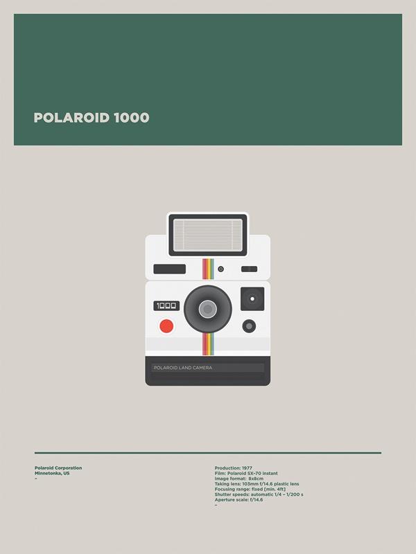 Analog Cameras Illustration by Lorenza Venturi, on Behance.