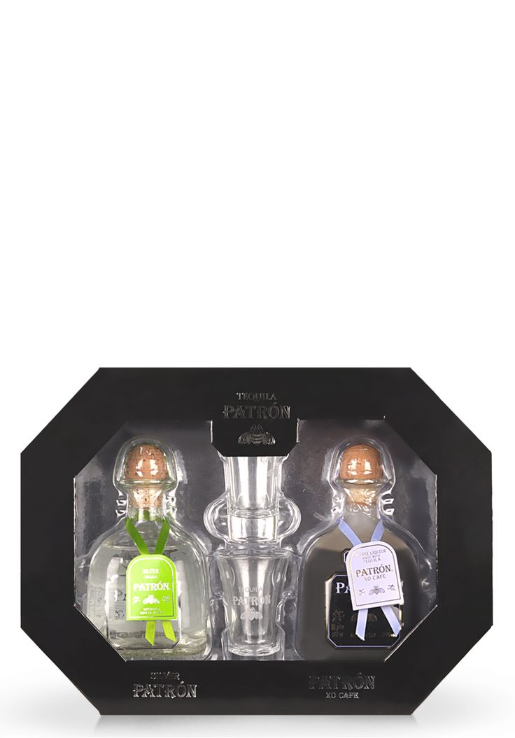 Set cadou Tequila Patron Duo: Tequila Silver si XO Cafe (2 x 0.35L) - SmartDrinks.ro