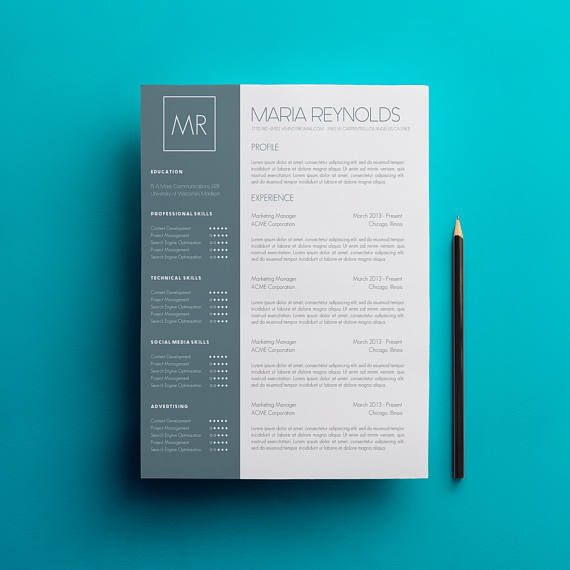 Looking for a professional resume and cover letter template? The Maria Reynolds design is for you. The green stripe and skills bar are not only trendy, but eye-catching. Youll definitely stand out among the sea of white resumes! Best of all--you can change the color to fit your fancy!  This download includes 3 pages--a two-page resume and cover letter template, with a references section--and the free fonts! With this instant download, you fill in all your details and particulars into the…