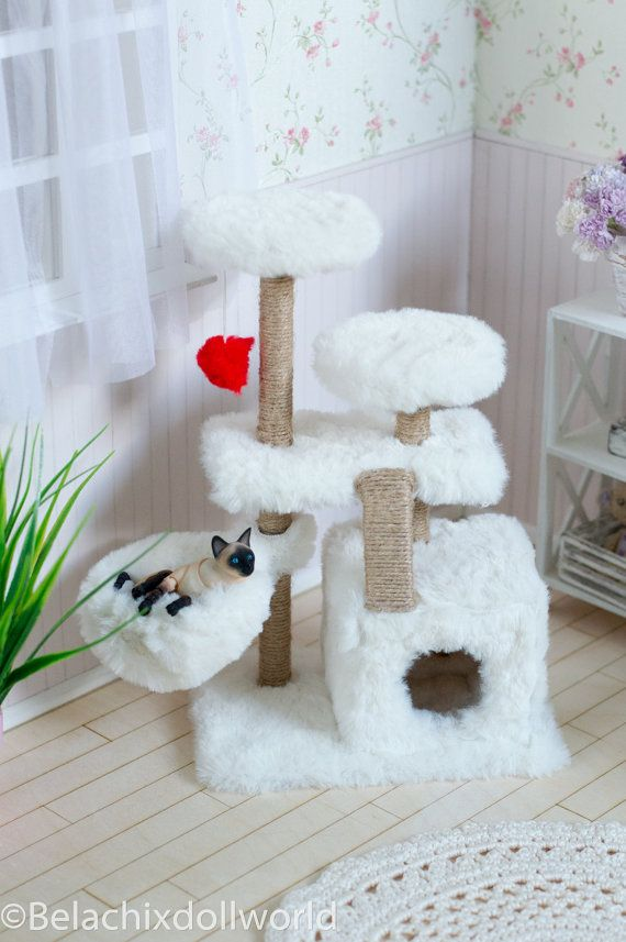 BJD cat 1/4 & 1/6  cat tree climbing by BelachixDollWorld on Etsy
