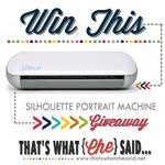 Silhouette Portrait Giveaway at thatswhatchesaid.net