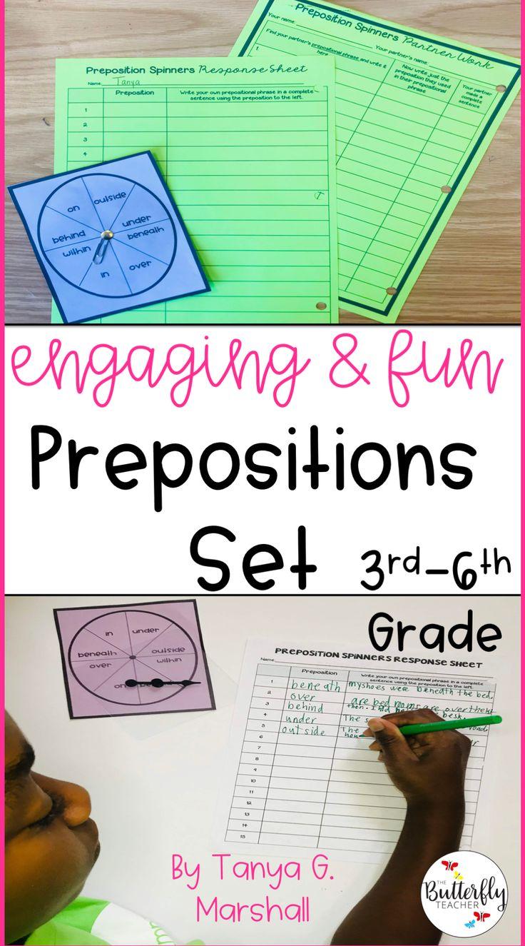 Prepositions & Prepositional Phrases [EDITABLE] Distance