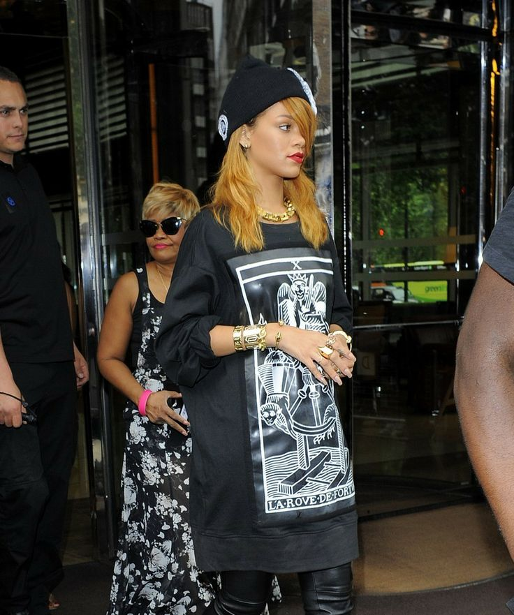 Rihanna and her mother Monica Braithwait leave her London hotel