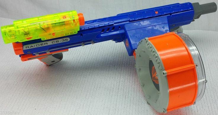 Blue Nerf  Raider CS-35 Dart Gun with Stock Ammo Drum tactical light $24