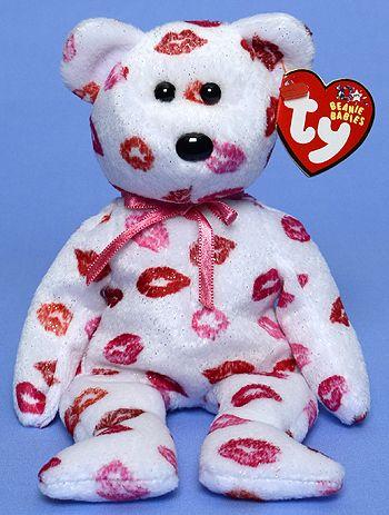 Kissy - bear - Ty Beanie Babies