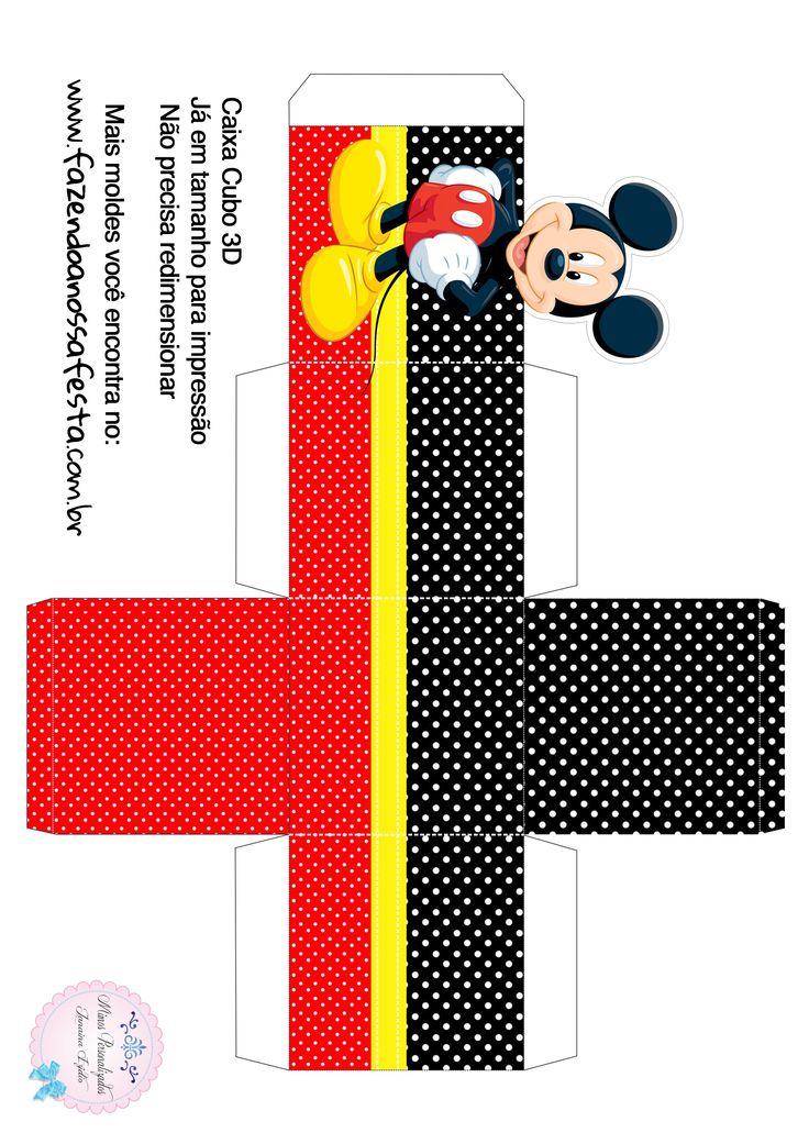 Caixa Cubo 3D Mickey