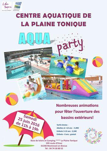 La Plaine Tonique Centre aquatique piscines et base de loisirs Hébergement de vacances Camping Location chalets Locations Mobil homes Montrevel en Bresse à une heure de Lyon 01 Ain Rhône-alpes