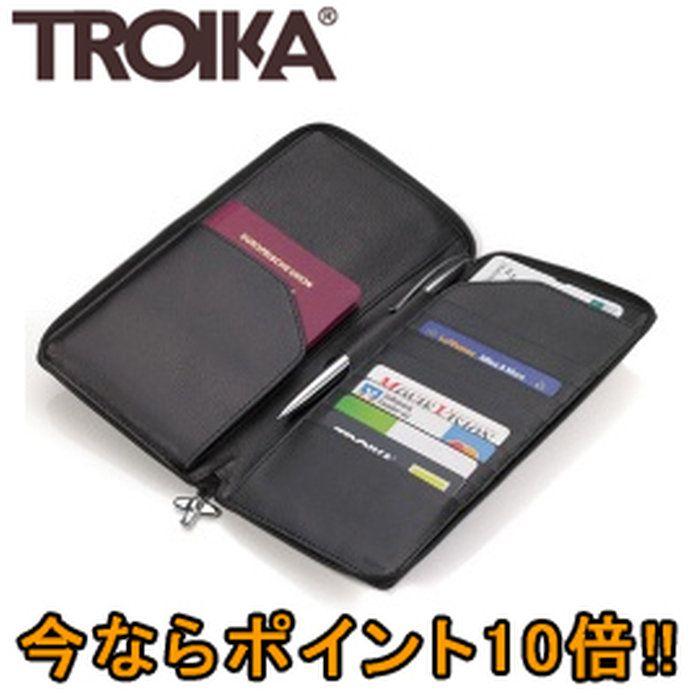 トロイカ(TROIKA)ファスナー付トラベルケースミッドナイトTR-TRV69/LE