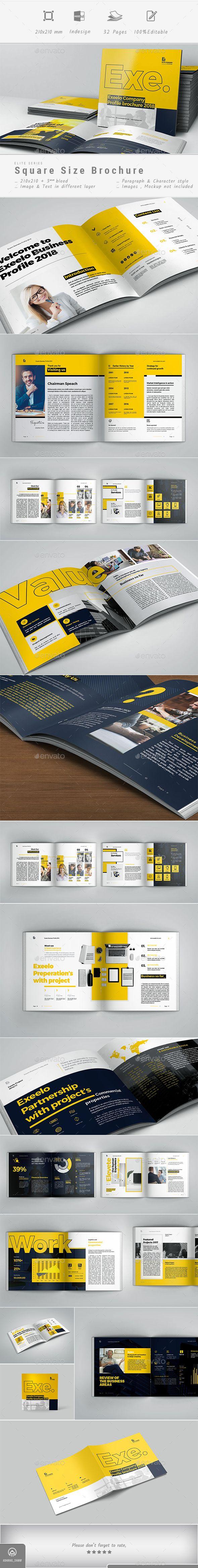 Square Company #Profile - Corporate #Brochures Download here: https://graphicriver.net/item/square-company-profile/19609808?ref=alena994