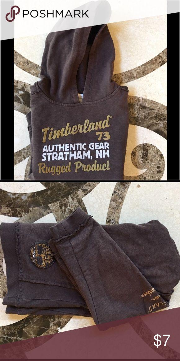 Timberland Hoodie Brown Hoodie with distressed seams | Good used condition | Bundle and save! Timberland Shirts & Tops Sweatshirts & Hoodies