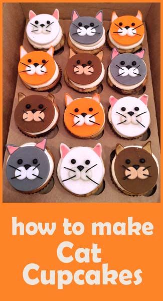 how to make Cute Cats - step by step - For all your Cat cake decorating supplies, please visit http://www.craftcompany.co.uk/catalogsearch/result/?q=cat