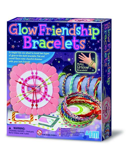 Make Your Own Glow Friendship Bracelets - Endless Designs Set - Number One Creative - Arts & Crafts Toys & Games Gift Present Idea For Birthdays Age 5+ Girls Girl Children Child Kids