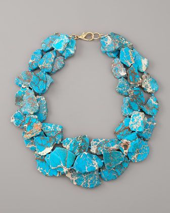 Blue Jasper: Color Fashion, Blue Jasper, Statement Necklaces, Nests Blue, Something Blue, Statement Jewelry, Neiman Marcus, Jasper Necklaces, Bibs Necklaces