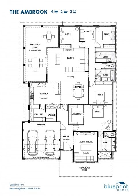 The Ambrook, 4 bedroom home design, Perth floorplans
