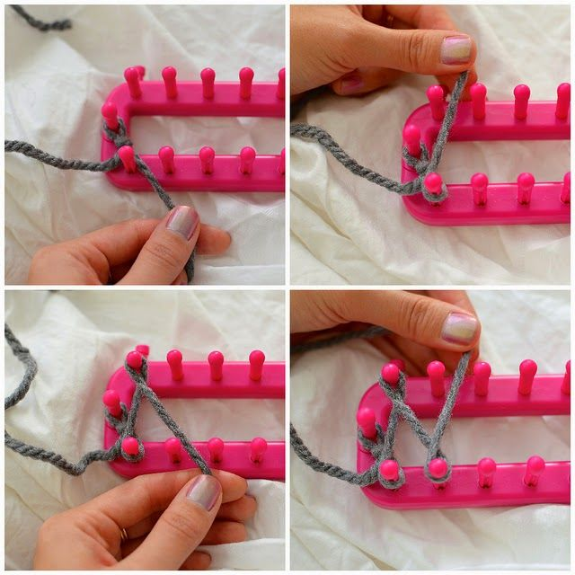 Cachecol Infinity DIY com um tear de tricô