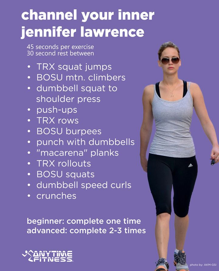 How to have Jennifer Lawrence's body