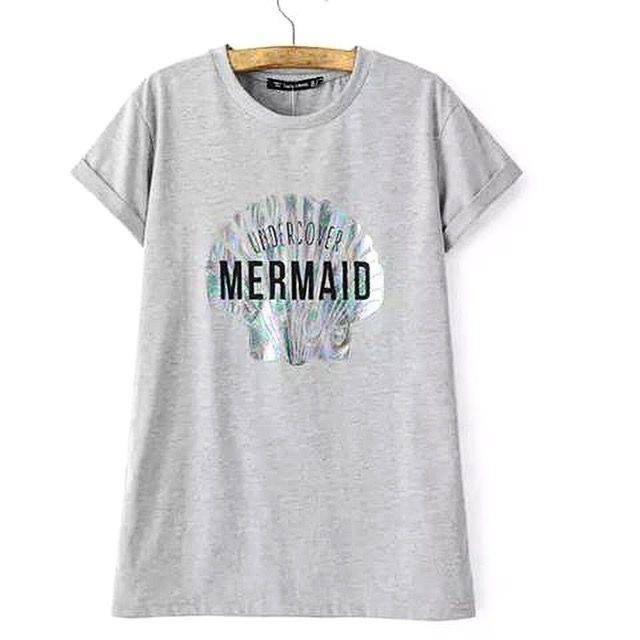Grey mermaid tee
