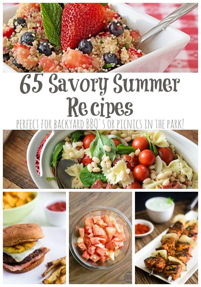 65 Savory Summer Recipes - the best of the web for picnics and barbecues | cupcakesandkalechips.com