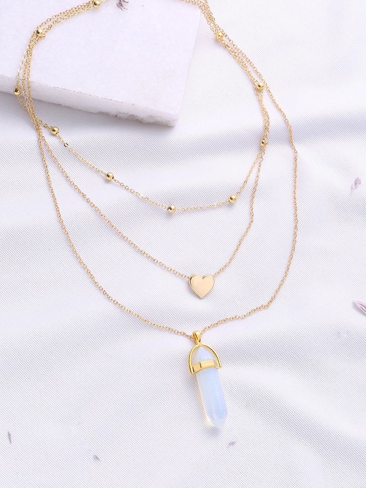 Shop Gold Heart Pendant Layered Chain Necklace online. SheIn offers Gold Heart Pendant Layered Chain Necklace & more to fit your fashionable needs.
