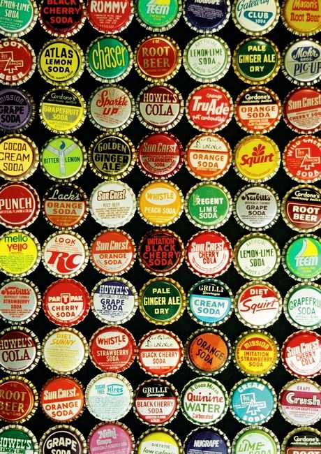 I wonder how many bottle caps there are and if you would ever be able to collect them all.